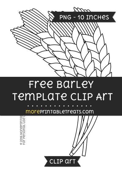 Free Barley Template - Clipart
