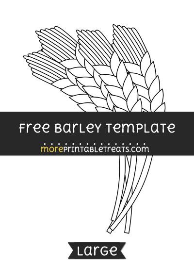 Free Barley Template - Large