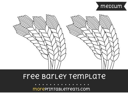 Free Barley Template - Medium