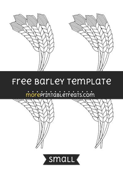 Free Barley Template - Small