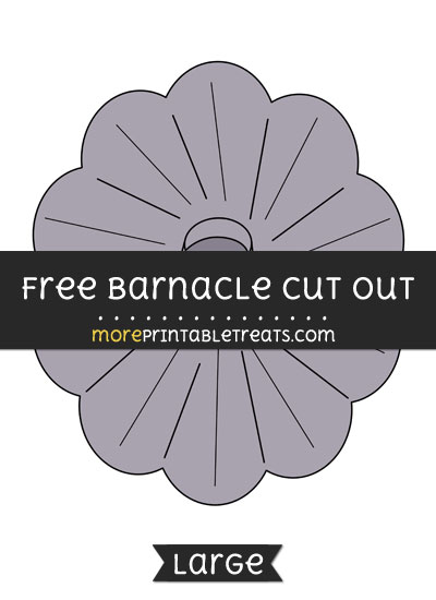 Free Barnacle Cut Out - Large size printable