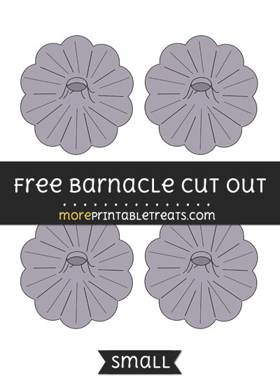 Free Barnacle Cut Out - Small Size Printable
