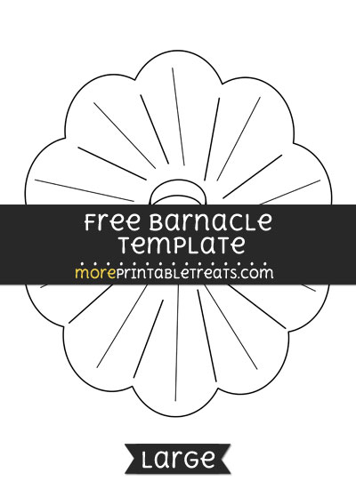 Free Barnacle Template - Large