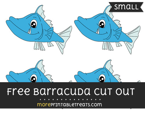 Free Barracuda Cut Out - Small Size Printable