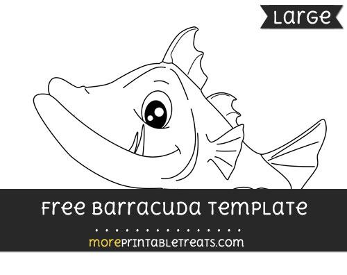 Free Barracuda Template - Large