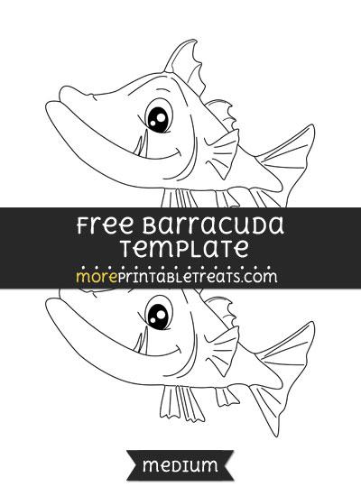 Free Barracuda Template - Medium