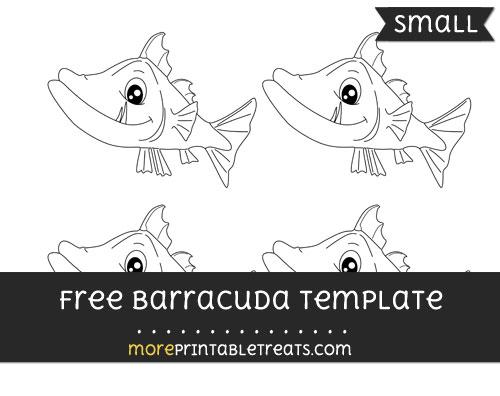 Free Barracuda Template - Small