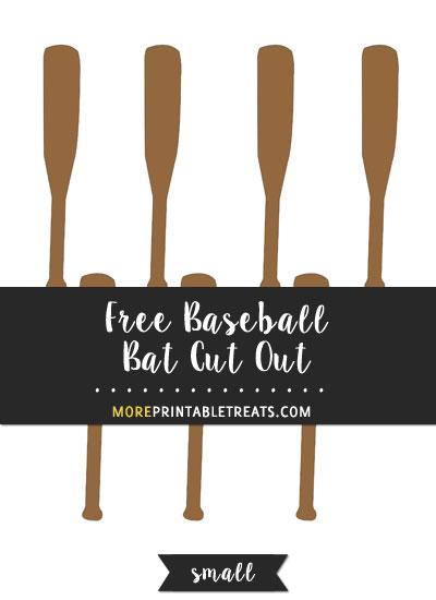 Free Baseball Bat Cut Out - Small