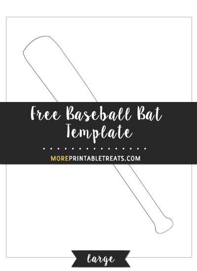 Free Baseball Bat Template - Large Size
