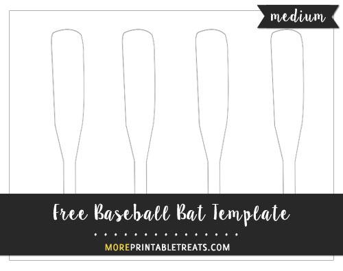 Free Baseball Bat Template - Medium Size
