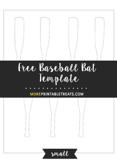 Free Baseball Bat Template - Small Size