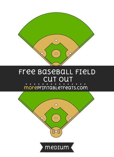 Free Baseball Field Cut Out - Medium Size Printable