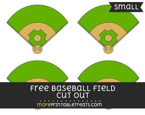 Free Baseball Field Cut Out - Small Size Printable