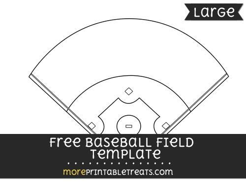 Free Baseball Field Template - Large