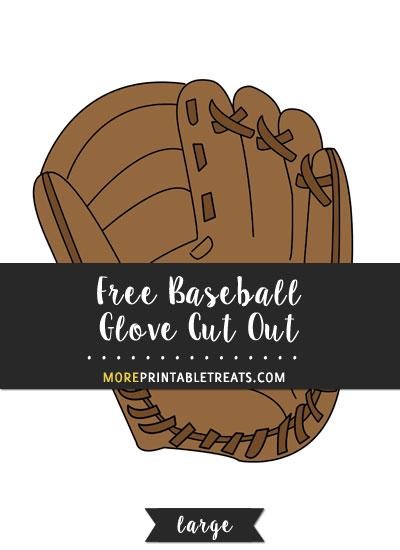 Free Baseball Glove Cut Out - Large