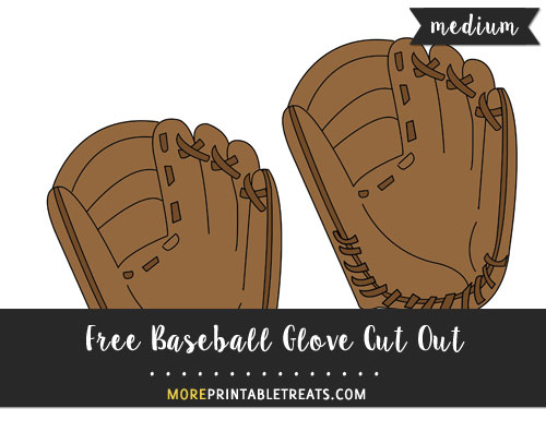 Free Baseball Glove Cut Out - Medium