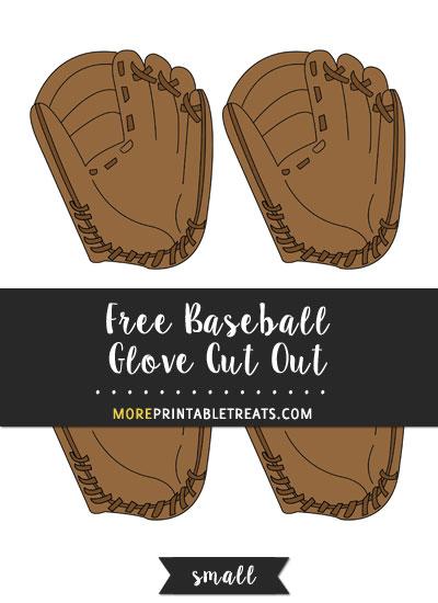 Free Baseball Glove Cut Out - Small