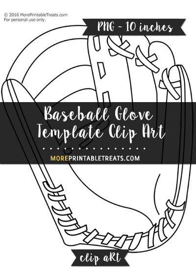 Free Baseball Glove Template - Clipart