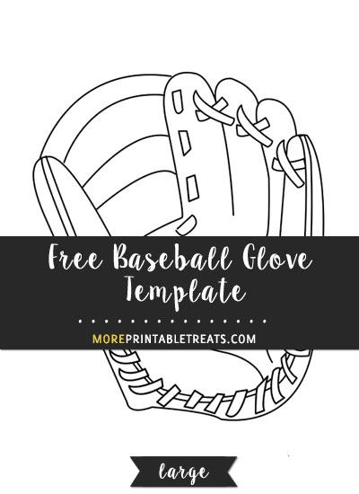 Free Baseball Glove Template - Large