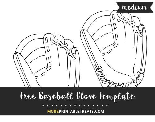 Free Baseball Glove Template - Medium