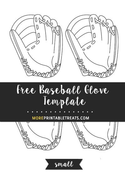 Free Baseball Glove Template - Small