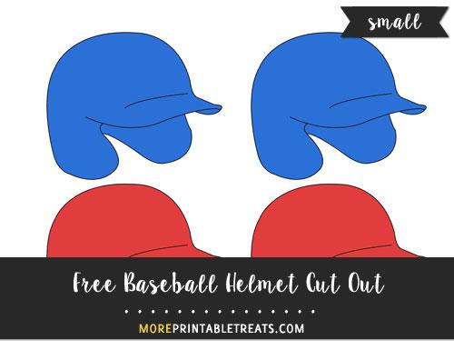 Free Baseball Helmet Cut Out - Small