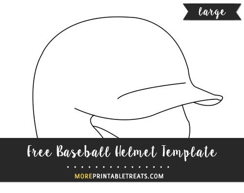 Free Baseball Helmet Template - Large