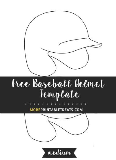 Free Baseball Helmet Template - Medium
