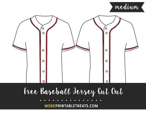 Free Baseball Jersey Cut Out - Medium