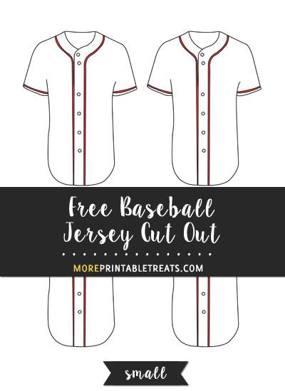 Free Baseball Jersey Cut Out - Small