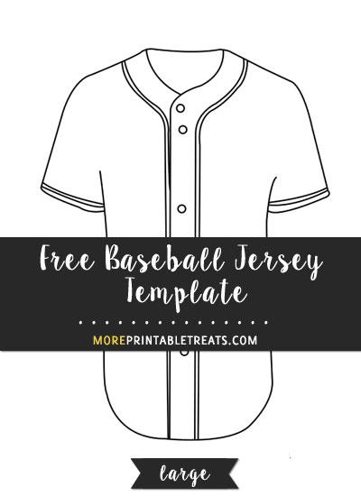Free Baseball Jersey Template - Large
