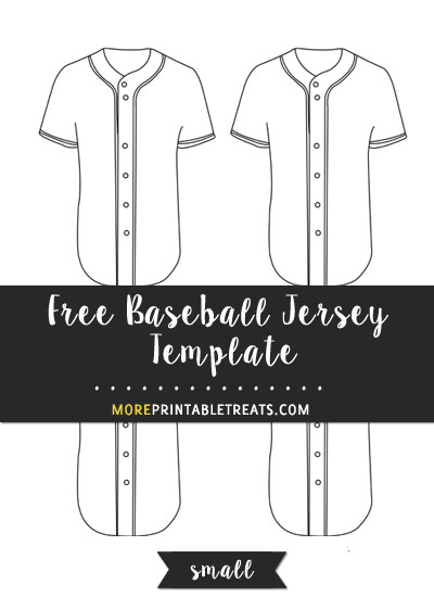 Free Baseball Jersey Template - Small