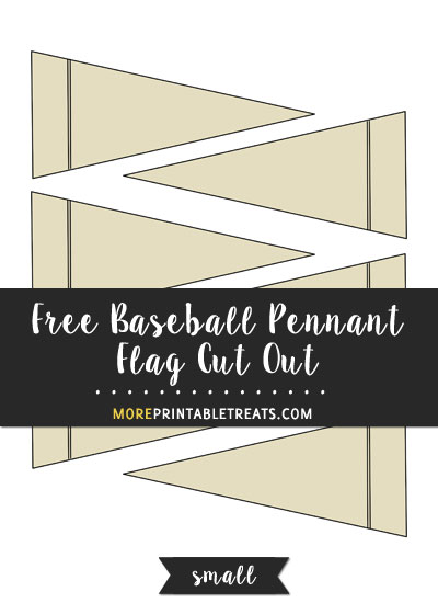 Free Baseball Pennant Flag Cut Out - Small