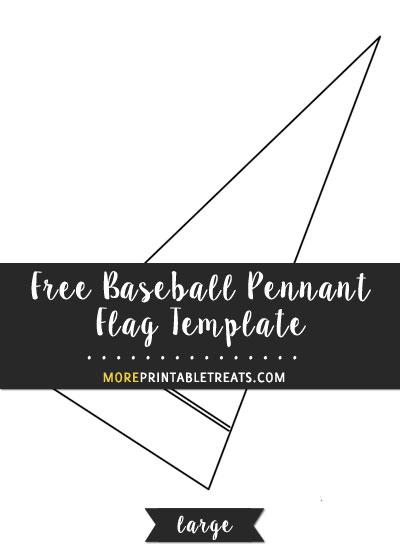 Free Baseball Pennant Flag Template - Large
