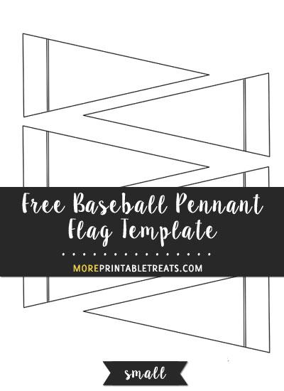 Free Baseball Pennant Flag Template - Small