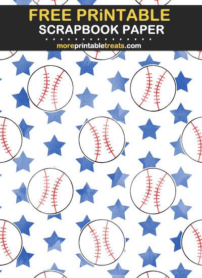 Free Printable Baseball Scrapbook Paper