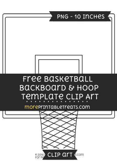 Free Basketball Backboard And Hoop Template - Clipart