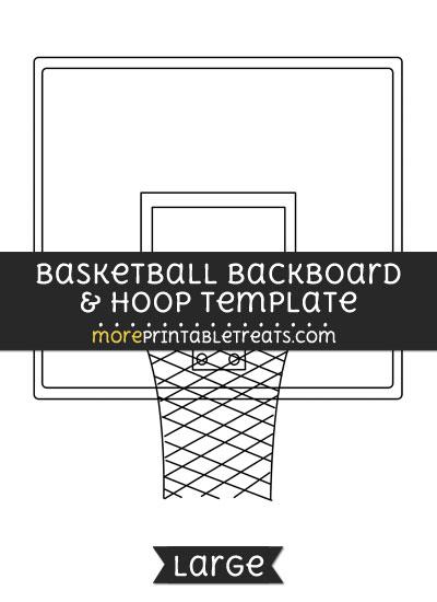 Free Basketball Backboard And Hoop Template - Large