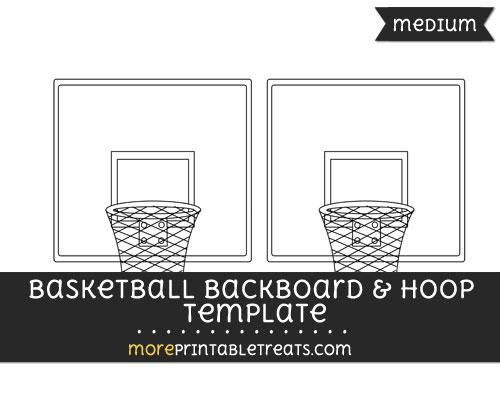 Free Basketball Backboard And Hoop Template - Medium
