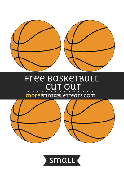Free Basketball Cut Out - Small Size Printable