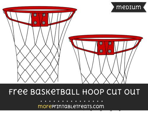 Free Basketball Hoop Cut Out - Medium Size Printable