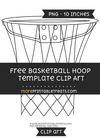 Free Basketball Hoop Template - Clipart