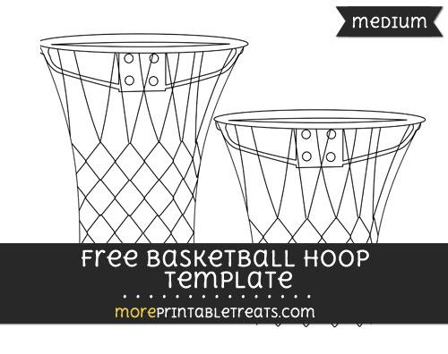 Free Basketball Hoop Template - Medium