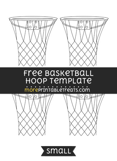 Free Basketball Hoop Template - Small