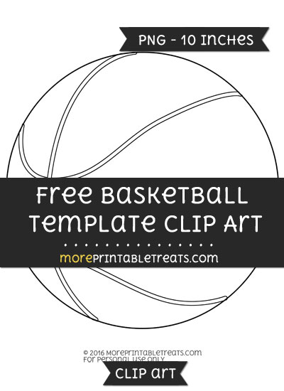 Free Basketball Template - Clipart