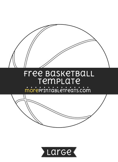 Free Basketball Template - Large