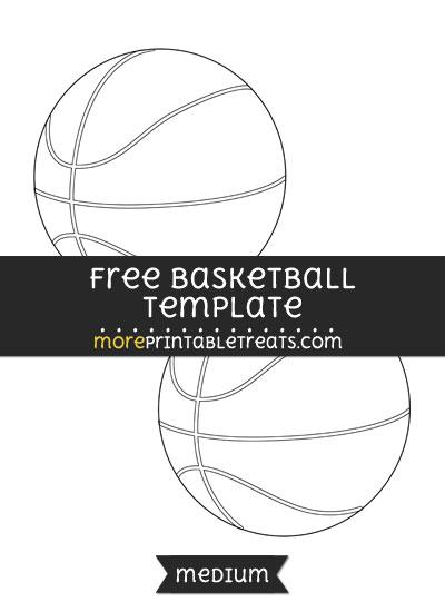 Free Basketball Template - Medium