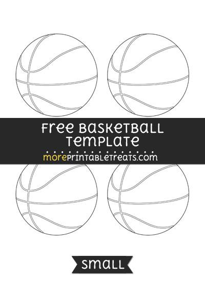 Free Basketball Template - Small