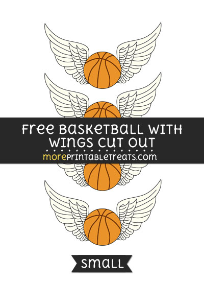 Free Basketball With Wings Cut Out - Small Size Printable