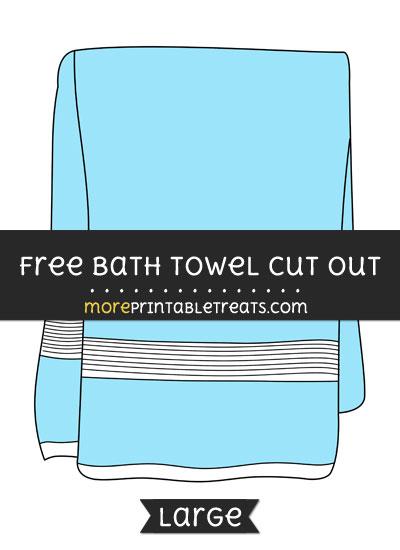 Free Bath Towel Cut Out - Large size printable